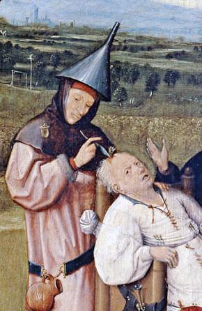 """Hieronymus Bosch, """"Der Steinschneider"""" (um 1485). Abb. gemeinfrei"""